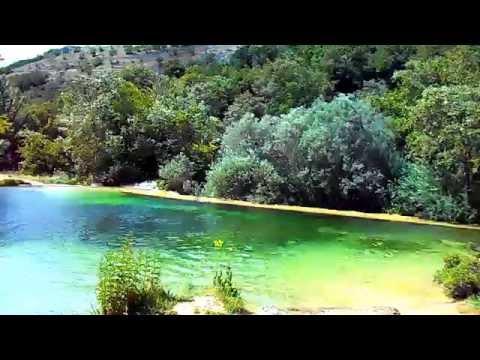 Piscina natural en Covalagua.,Montaña Palentina
