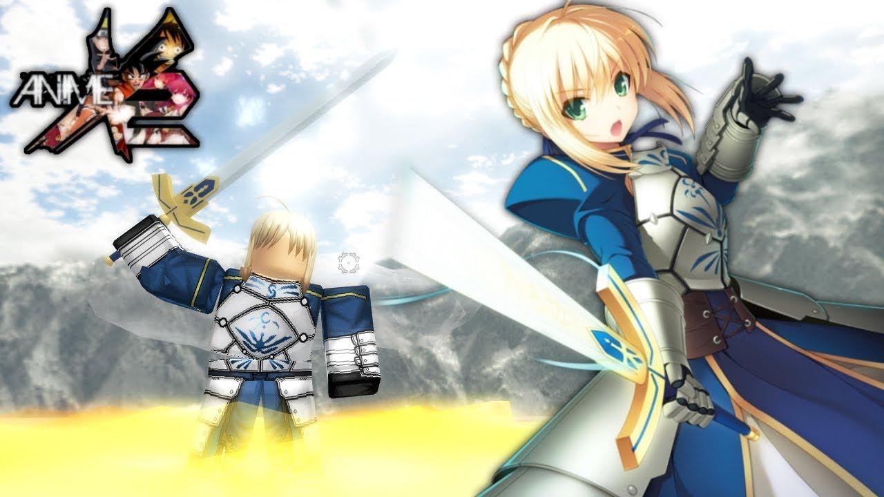 Saber Artoria Pendragon In Anime Cross 2 Roblox Youtube