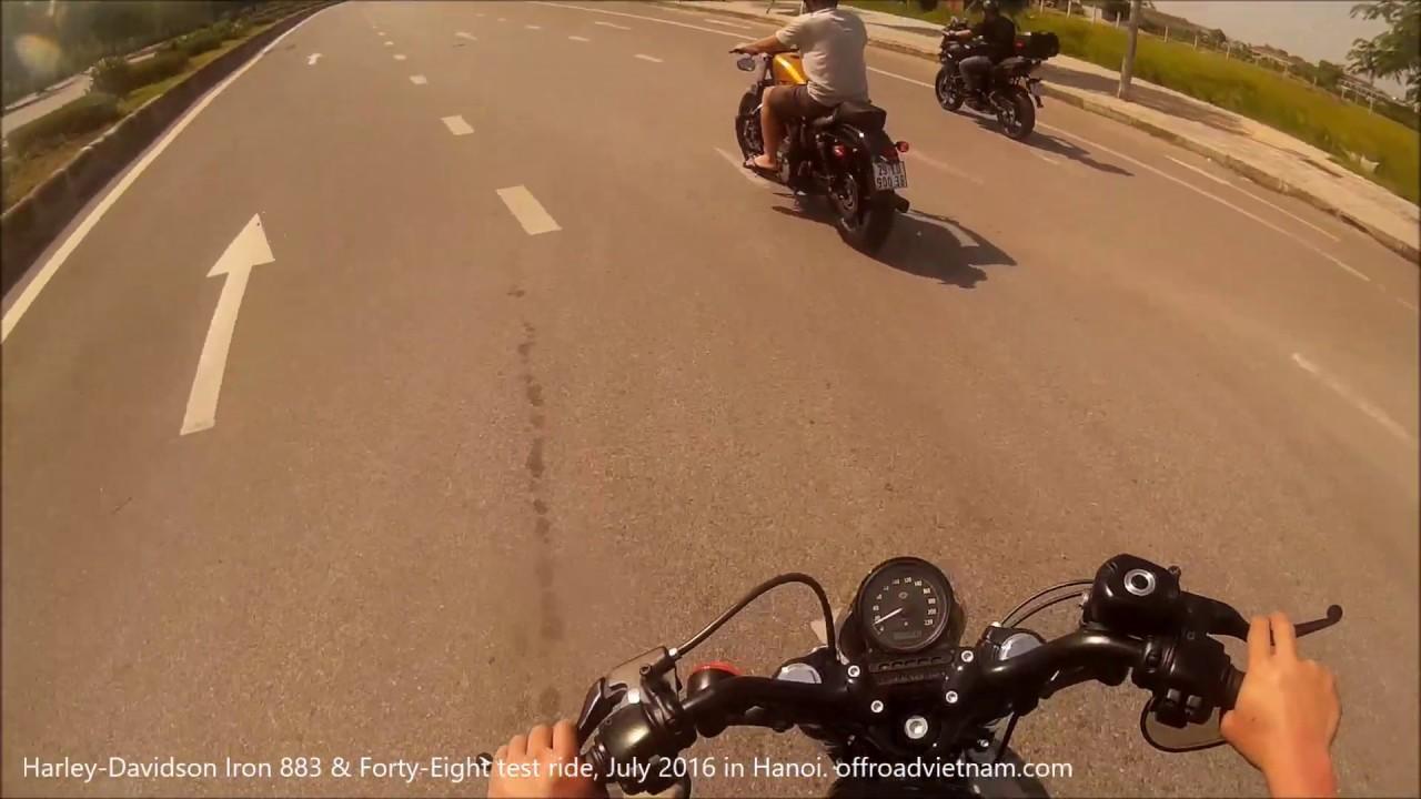 Vietnam Harley-Davidson Iron 883 & Forty-Eight Test Ride, Hanoi July 2016 | VietnamOffroad.com