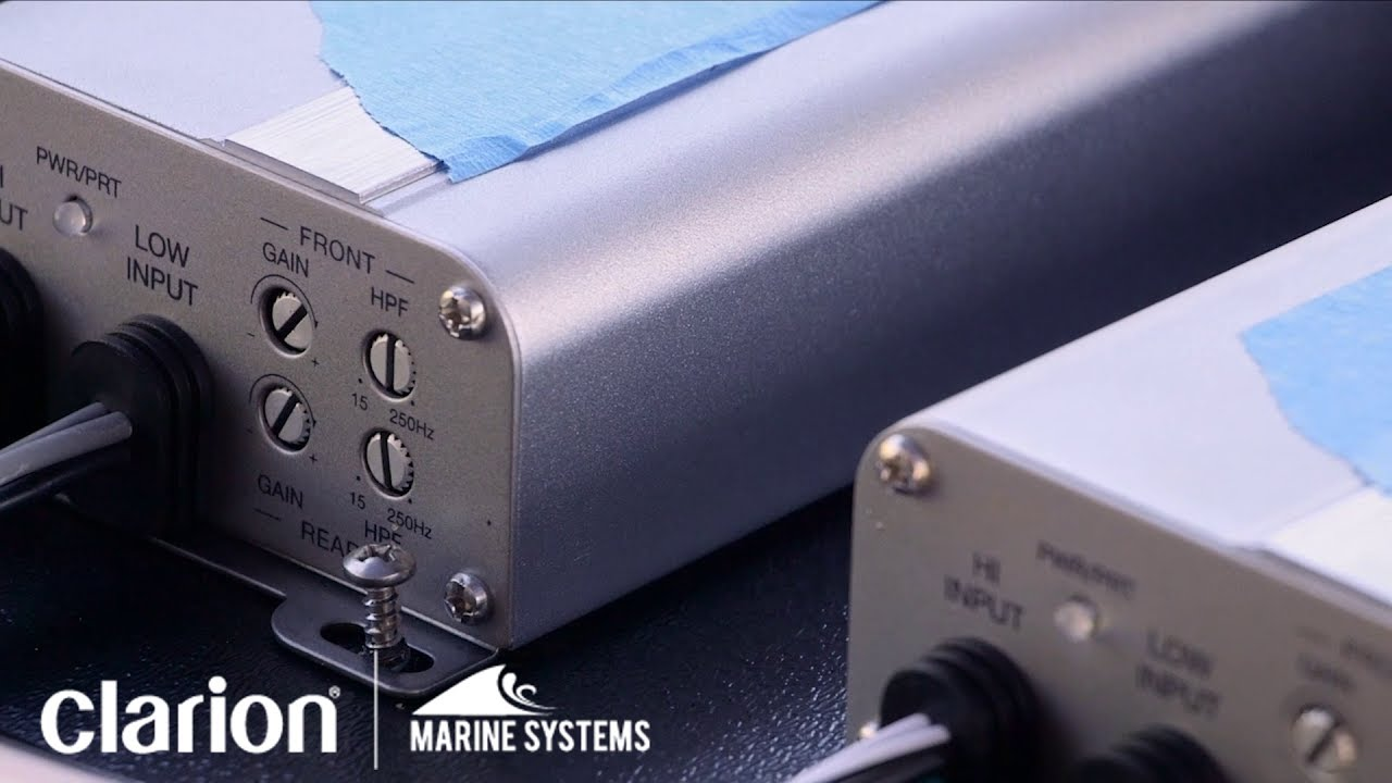 hight resolution of clarion marine amplifiers