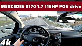 Mercedes-Benz B170 (2008) 1.7 115hp | Startup & POV Drive Test | Walkaround | 4K #9