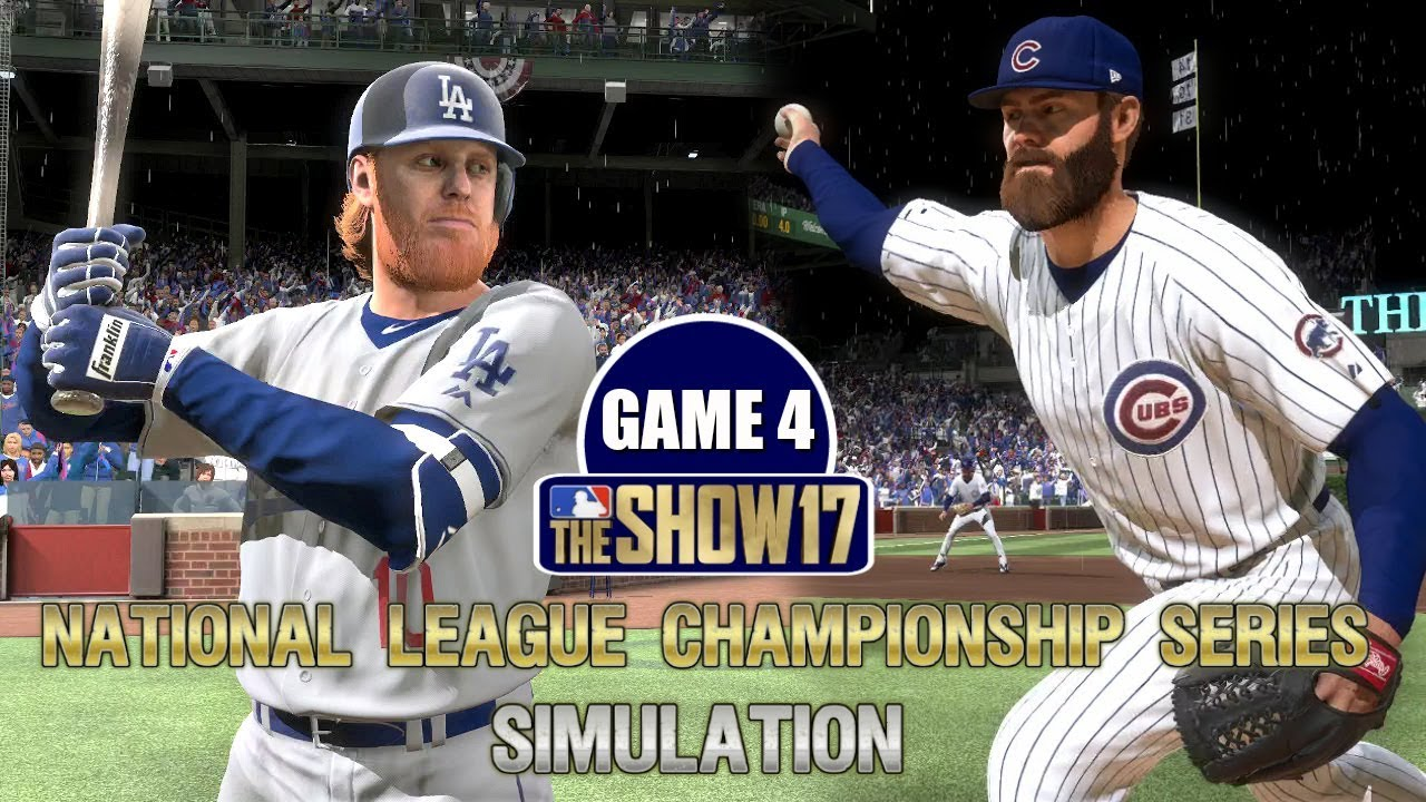 MLB The Show 17 | Cubs vs Dodgers National League Championship Series Game  4 Simulation