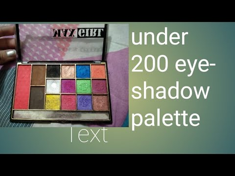 Under 200rs eye shadow palette review # ...