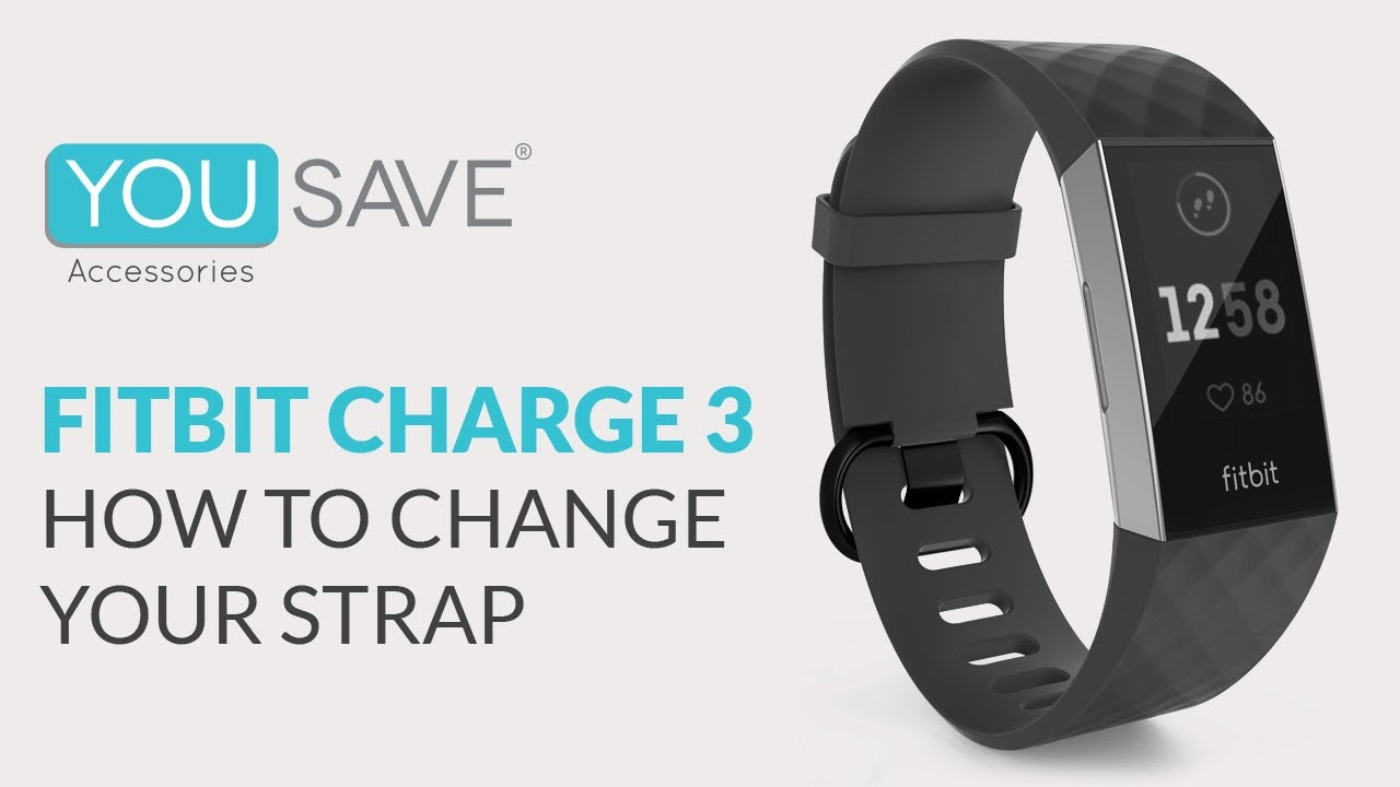 How to Change a Fitbit Charge 3 Strap by Yousave Accessories - Replacement  Wrist Band Tutorial