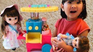 泣いちゃうレミンちゃん おかいものスイーツワゴンのおもちゃでお店屋さんごっこ!Pretend Play Sweets Wagon Toys