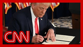 President Trump signs executive actions targeting economy
