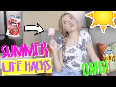 Summer Life Hacks EVERYONE Needs to Know! | Sasha Morga