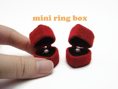 DIY Miniature Doll Mini Ring Box - Heart Shape