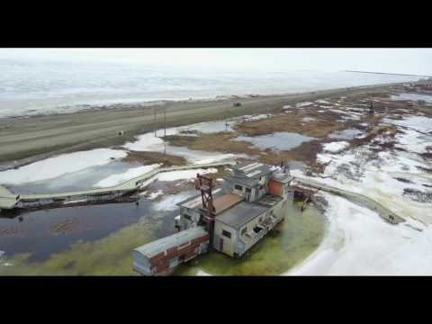 Overhead view of Nome,Alaska