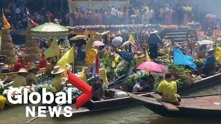 Colourful river festival marks the beginning of Buddhist Lent in Thailand