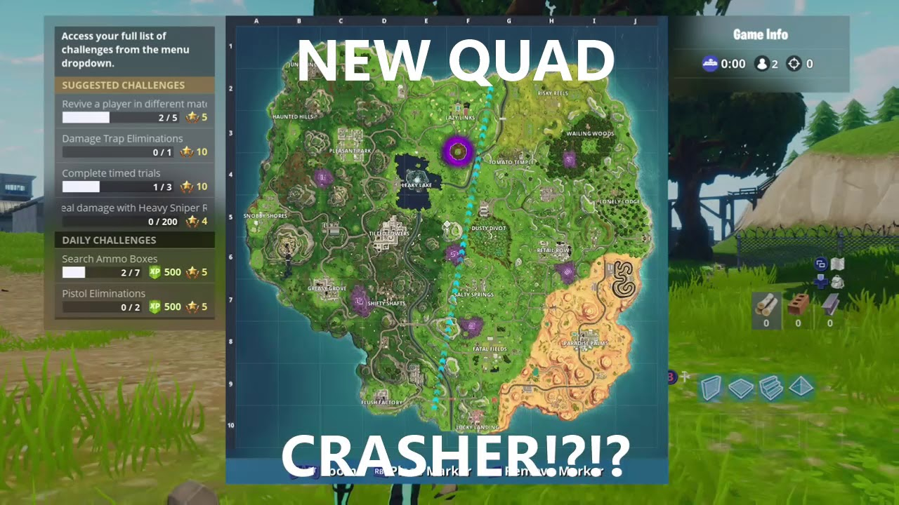 New Quad Crasher In Fortnite Location Youtube