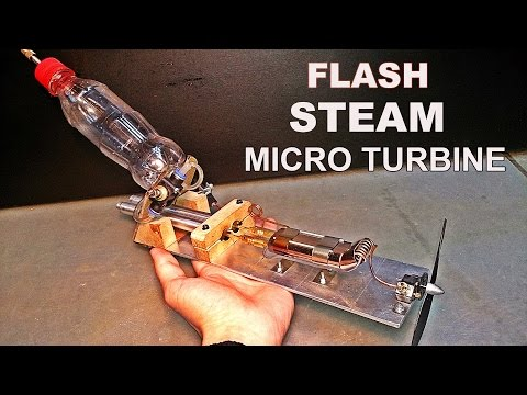 Flash Steam Micro Turbine