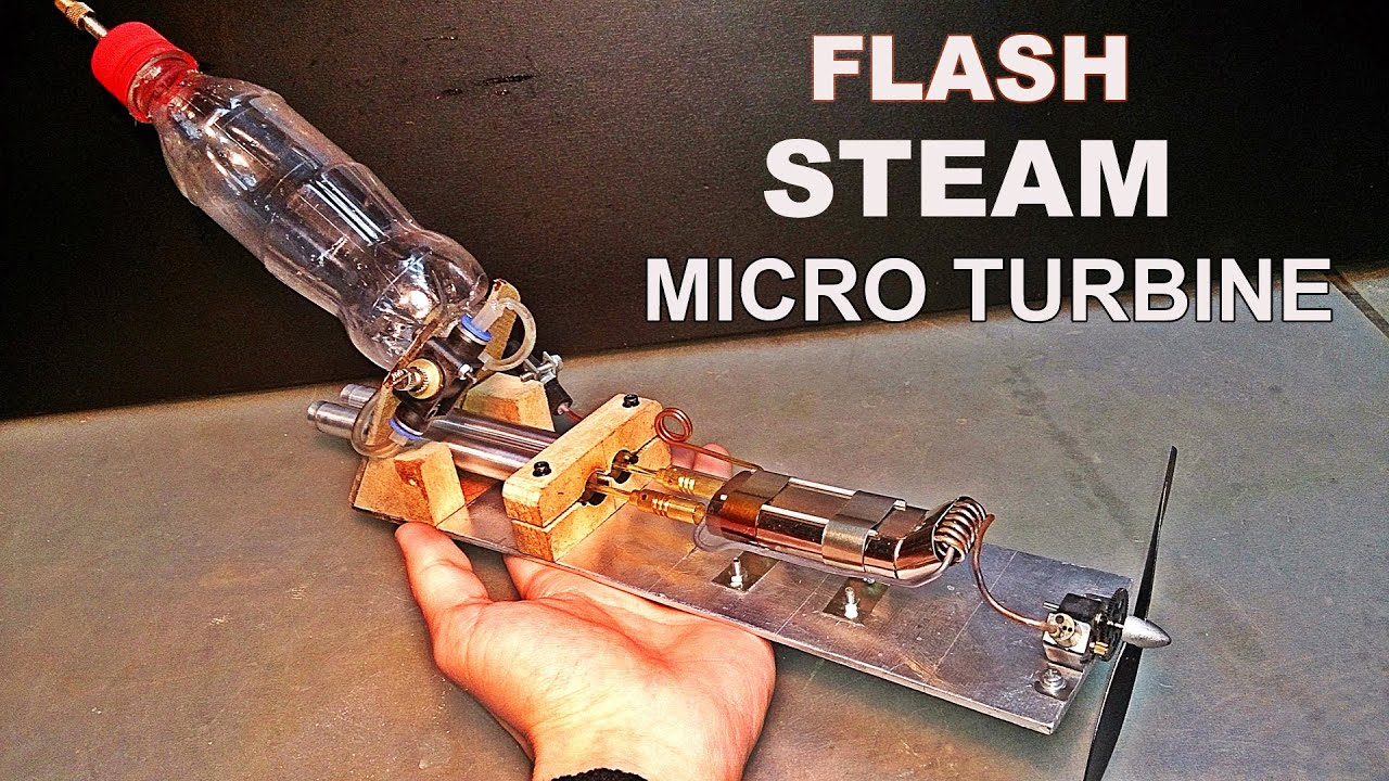 Flash Steam Micro Turbine