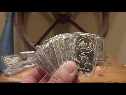 Week 2 Part 2: 1 oz Silver Towne Silver Bars (Broke the 200 oz mark for 2017)
