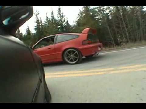 Civic H22a Vs Crx TypeR (Alfred pis sa gang en gas