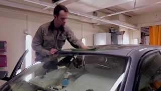 Удаление глубокой вмятины на крыше BMW 5 серии в