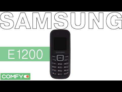 Samsung E1200 - практичный мобильный телефон - Видеодемонстрация от Comfy
