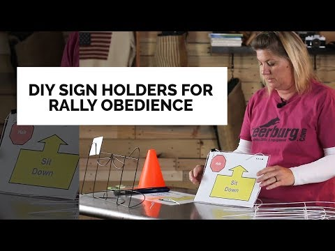DIY Sign Holders For Rally Obedience
