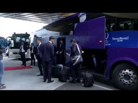 Real Madrid arrive ahead of Super cup