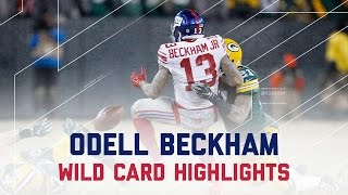 Odell Beckham s Rough Day in Green Bay | Giants vs. Packers | NFL Wild Card Player Highlights