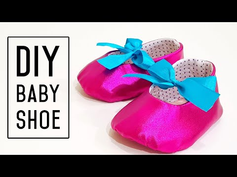 How To Make Baby Shoes From Old Clothes | Recycling Project | 旧衣也可以制作美丽可爱的婴儿鞋 #HandyMum ❤❤