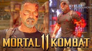TERMINATOR MASTERS INFINITE ARMOR! - Mortal Kombat 11: Terminator Gameplay