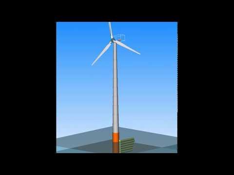 alaska/Wind - turbine with monopile foundation