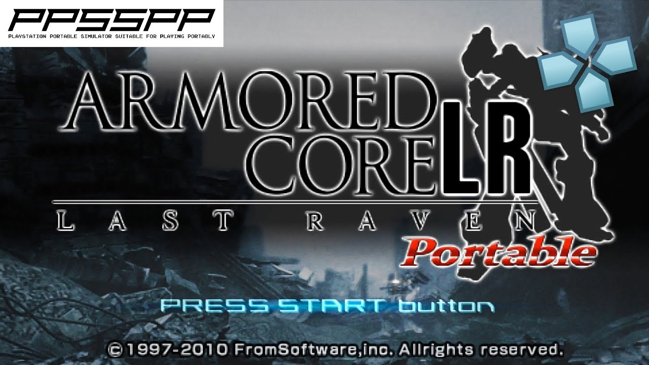 Armored Core: Last Raven Portable - PSP Gameplay (PPSSPP) 1080p 60fps