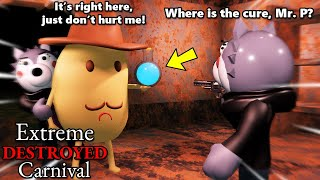 ROBLOX PIGGY EXTREME DESTROYED CARNIVAL!! WILLOW INTERROGATES MR. P!!