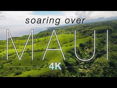"""""""SOARING OVER MAUI"""" [4K] Hawaii Ambient Nature Relaxation Drone Film w Music 