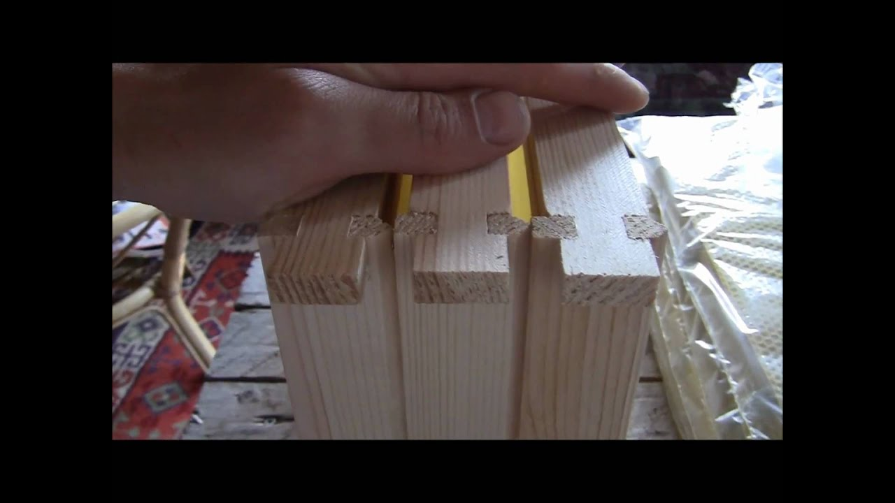 How to put together beekeeping frames! - YouTube