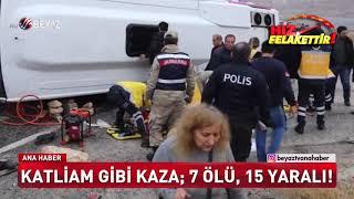 Katliam gibi kaza 7 ölü 15 yaralı