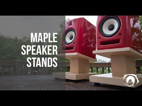 Maple Speaker Stands