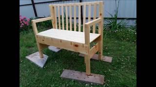 Arm chair handmade Лавка своими руками