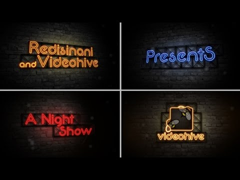Opening Titles-Late Night Show | After Effects template