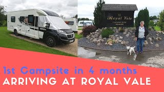 First Campsite In Four Months! | Arriving At Royal Vale Caravan Park | Thor's On Tour After Lockdown