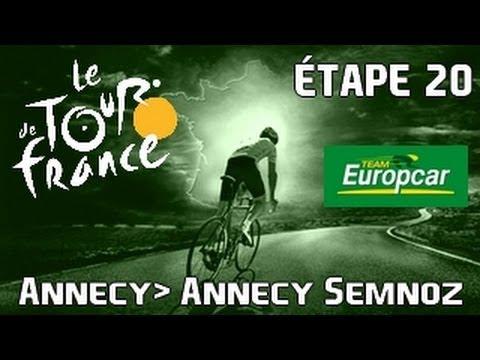 Tour de France 2013 Europcar | mode solo | Etape 20 : Annecy - Annecy Semnoz [HD] [Fr]