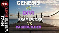 Divi 3 theme vs Genesis Framework a WordPress Framework vs Page Builder