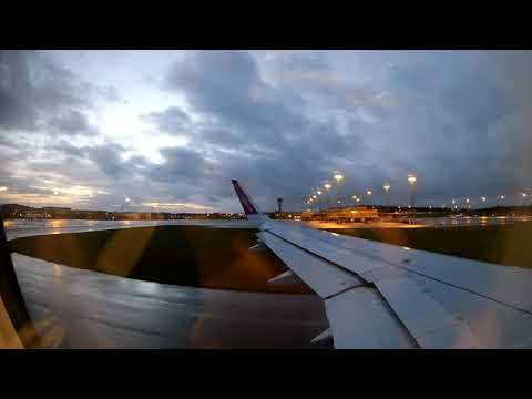 WIZZ Air Airbus A320 taxi and take of to Nis from Malmo