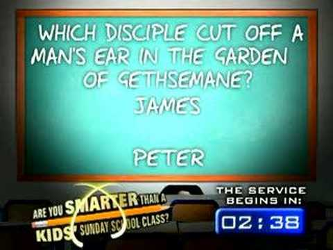 Are you smarter than a kids Sunday School class?
