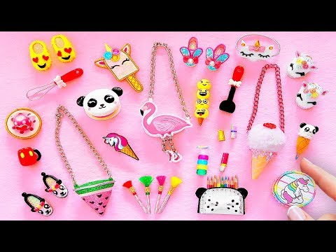 25 DIY BARBIE HACKS AND CRAFTS ~ Miniature Shoes, Bags, Pencil case, Cosmetics AND MORE