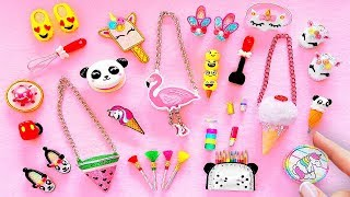 25 DIY Miniature HACKS AND CRAFTS ~ Miniature Shoes, Bags, Pencil case, Cosmetics AND MORE
