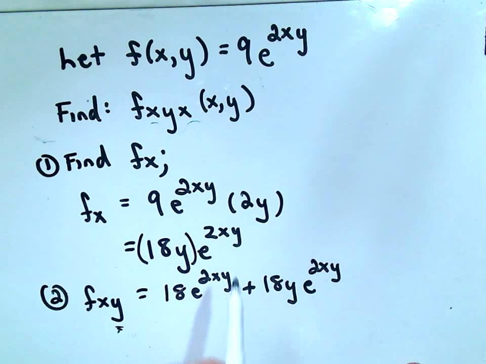 Calculus Higher Order Partial Derivatives Youtube