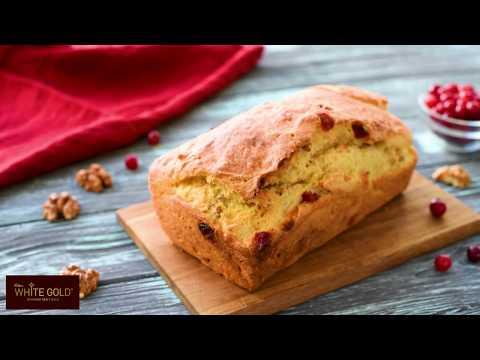 Gluten free Festive walnut and cranberry bread