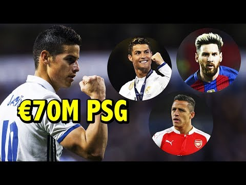 €70 Millones por JAMES | Noticias CONFIRMADAS del Real Madrid | Alexis al nivel de Messi y Cristiano