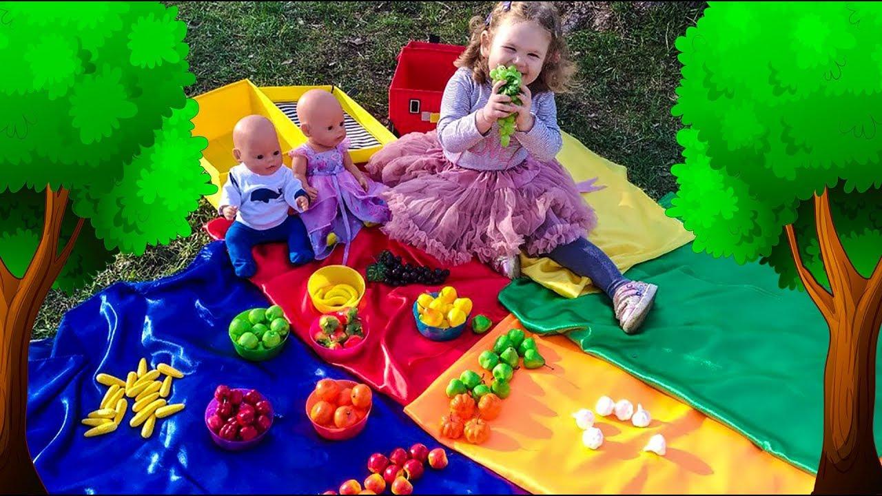 Учим цвета и фрукты на английском языке Играем в прятки ...