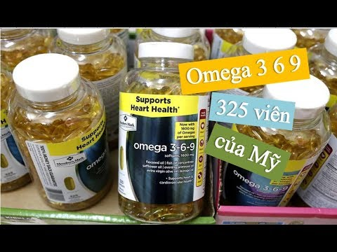 Vien Uống Dầu Ca Omega 3 6 9 Supports Heart Health Của Mỹ Youtube