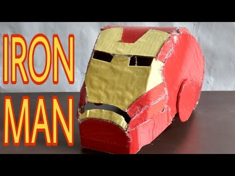 How To Make Iron Man Mask With Cardboard। Cardboard Se Iron Man Mask Kaise Banaye।