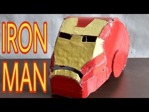 How To Make Iron Man Mask With Cardboard। Cardboard Se Iron Man Mask Kaise Banaye।