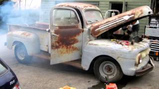 1952 ford f 1 first start after 35 years